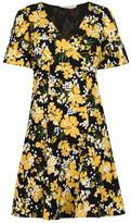 MICHAEL Michael Kors Short Sleeve Floral Mini Dress
