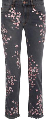 Isabel Marant Holan Embroidered Mid-rise Slim-leg Jeans