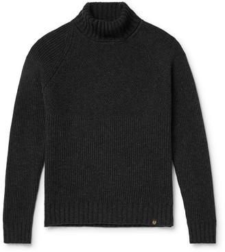 Belstaff Marine Virgin Wool Rollneck Sweater