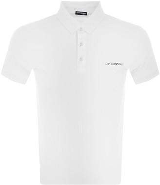 Giorgio Armani Emporio Short Sleeve Polo T Shirt White