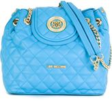 Love Moschino flap closure quilted shoulder bag