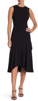 Modern American Designer Sleeveless High/Low Midi Dress
