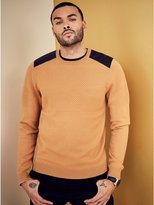 GUESS Men's Waffle Knit Sweater