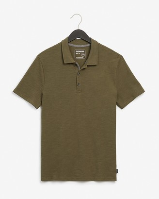Express Solid Slub Polo