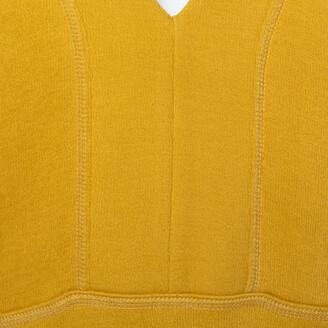 Chloé Mustard Yellow Knit Asymmetrical Hem Mini Dress S