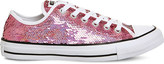Converse sequined canvas low-top trainers