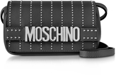Moschino Black Leather Crossbody Bag w/Studs