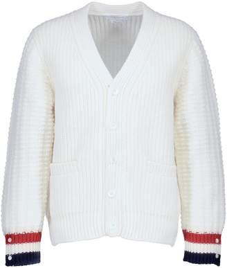 Thom Browne Funmix Stitch merino wool cardigan