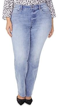 Nydj Plus Marilyn Straight-Leg Jeans in Biscayne
