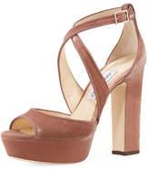 Jimmy Choo April Velvet Platform Sandal