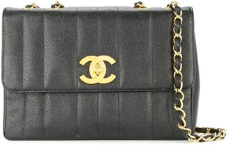 Chanel Pre Owned 1994-1996 Chanel Mademoiselle Jumbo XL chain shoulder bag