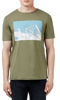 Topman Men's Soccer Goal Graphic Crewneck T-Shirt