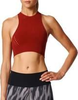 adidas Halterneck Sleeveless Knit Cropped Top