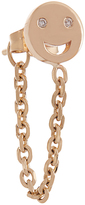 Alison Lou Diamond & gold single happy-face earring
