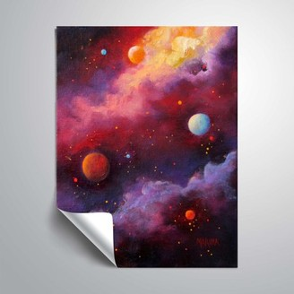 ArtWall Fiery Galaxy Removable Wall Art Mural by Marina Petro
