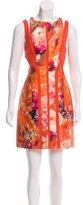 J. Mendel Abstract Print Silk Dress