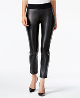 Alfani PRIMA Faux-Leather-Front Skinny Pants, Only at Macy's