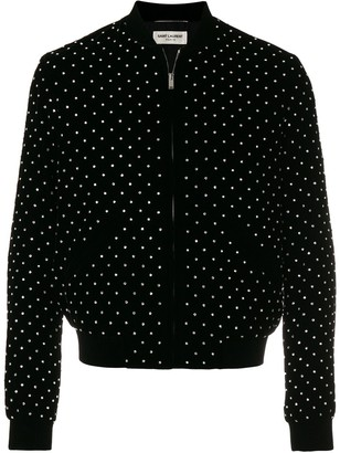 Saint Laurent Studded Bomber Jacket