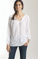 J. Jill Embroidered peasant blouse