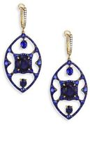 Ivy Diamond & Blue Sapphire Drop Earrings