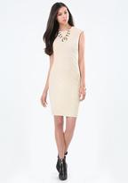 Bebe Geo Textured Dress