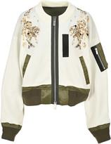 Sacai Sequin Embellished Zipped Jacket