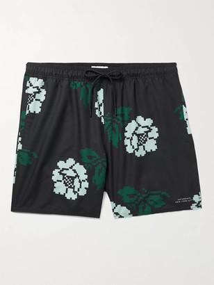 Saturdays NYC Timothy Rose Mid-Length Swim Shorts - Men - Black