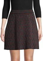 M Missoni Stretch Wool-Blend Striped Skirt