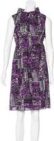 Anna Sui Printed Sleeveless Dress
