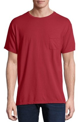 Hanes Men's and Big Men's ComfortWash Short Sleeve Pocket Tee, Up To Size 3XL