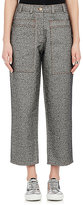 Acne Studios WOMEN'S MILFORD WORK COTTON CROP TROUSERS