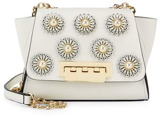 Zac Posen Mini Eartha Embellished Leather Crossbody Bag
