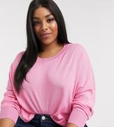 Vero Moda Curve lightweight jumper in pink