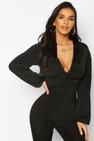 boohoo Slinky Ruched Front Body