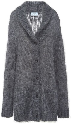 Prada shawl collar knitted cardigan