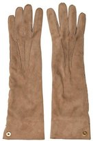 Loro Piana Taupe Suede Gloves