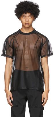Blackmerle SSENSE Exclusive Black Mesh T-Shirt