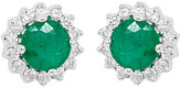 Diana M Fine Jewelry 14K 0.59 Ct. Tw. Diamond & Emerald Earrings