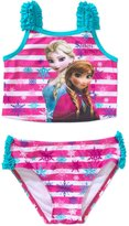 Disney Frozen Little Girls Elsa Anna Two Piece Tankini Swimsuit (T)