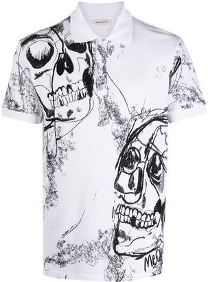 Alexander McQueen Skull Print Polo Shirt