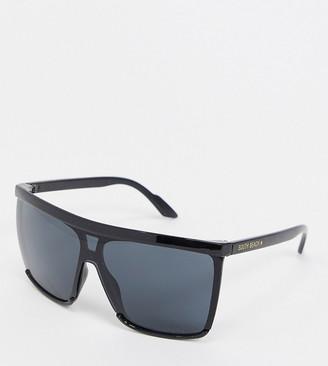 South Beach Exclusive shield sunglasses in black