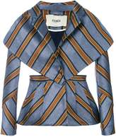 Fendi striped fitted jacket