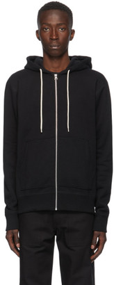 Naked and Famous Denim Black Heavyweight Terry Zip Hoodie