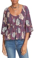 Free People Women's Glenside Floral Print Top