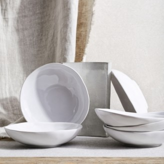 The White Company Portobello White Pasta Bowl Set of 6, White, One Size