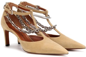 Altuzarra Chain-trimmed suede pumps