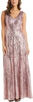Thumbnail for your product : Nightway Sequin V-Neck Gown