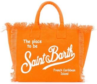 MC2 Saint Barth Frayed Logo Print Bag