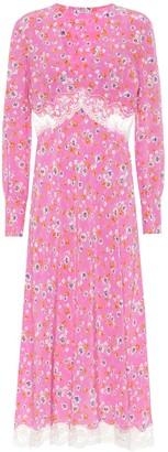 Miu Miu Floral silk-crepe midi dress