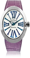 Locman Change Stainless Steel Oval Case Women's Watch w/3 Leather Straps